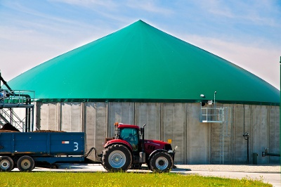 Anaerobic digestion facility and red tractor