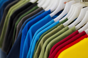 Colorful-T-shirts-On-Hanger-fashion
