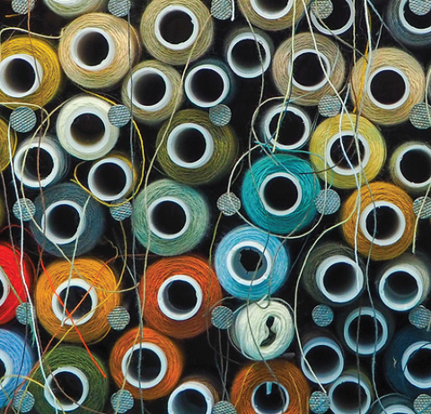 cotton textile threads